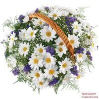 """Корзина """"Полевые цветы"""""""