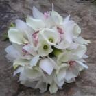 Свадебный букет из орхидей и калл