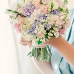 Свадебный букет в пастельных тонах 4