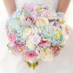 Свадебный букет в пастельных тонах 7