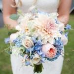 Свадебный букет в пастельных тонах 8